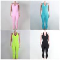 Petek Tasarım Yoga Giyim Backless 6 Renkler Kolsuz Spor Giyim Tulum Kadın Açık tulum Giyim S-XL 39mg E19