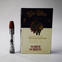 Big Chief Cartridge Ceramic Coil Empty Vape Cartridges Atomizers Packaging Wood Tip Dab Pen Wax Vaporizer 510 Thread Glass Tank Atmoizer E Cigarette