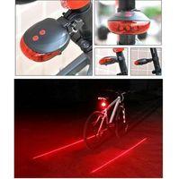 الصفحة الرئيسية رياضة في الهواء الطلق اكسسوارات الدراجات دراجة أضواء الدراجة تفاصيل المنتج Bike Cycling Lights ماء 5 LED 2 ليزر 3 طرق B