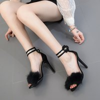 519550afb992 Designer Dress Shoes Summer new European and American style high heels  fashion sexy high-heeled sandals