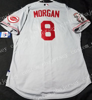 Cheap Custom JOE MORGAN COOL BASE Stitched Retro Mens jersey...
