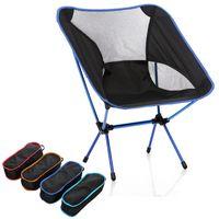 Cadeira de lua dobrável portátil Pesca Camping fezes churrasco dobrável estendido caminhadas assento jardim ultraleve mobiliário de escritório em casa
