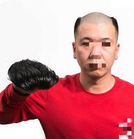 Мужская свисающего шелк основа замена волос с скрытым узлом 6inch прямым индийскими топом волос штук