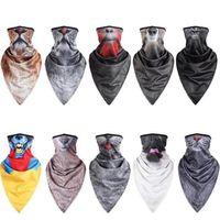 Animales impresión fresca Máscaras en MenWomen MotorcycleBike Ciclismo media mascarilla bufanda deporte al aire libre Senderismo partido de Paintball Máscara IIA105