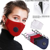 En stock! Anti Pollution PM2,5 Bouche Masque poussière Respiratoire Lavable Réutilisable Masques unisexes bouche pour moufles allergie et l'asthme Voyage