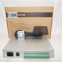 أدى T300K T300K تحكم بكسل RGB PC على خط بكسل اللون الكامل تحكم 8192 بكسل WS2811 WS2801 VIA PC SD بطاقة 8 منافذ