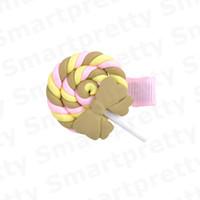 Ragazze Barrettes svegli del polimero di Arcobaleno Lollipop Pin di Bobby principessa dell'arcobaleno forcine Kid colore della caramella cloud Accessori per capelli Nuova E31201
