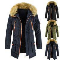 L'arrivée de nouveaux hommes Manteau Parkas Hommes Fashion Designer Couleur unie Hiver Vêtements Manteaux Bas Hommes Luxe Oversize long et épais Manteau de duvet