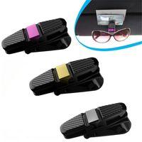 Auto portátil ABS veículo automóvel pala de sol Óculos de sol Óculos óculos titular Ticket Cartão braçadeira Fastener Acessórios