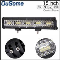 7D tri-fila 15inch 300W dritto barra di illuminazione a LED Combo fascio luce del lavoro del camion SUV ATV 4x4 4WD 12V 24V