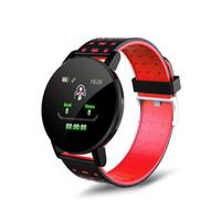 119 Plus-Smart-Armband-Uhr-Mann Wasserdicht Blut Fitness Tracker Herzfrequenzmesser Pedometer Smart-Band