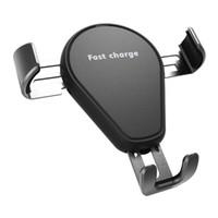 싼 가격 15w 빠른 충전 Qi 스마트 센서 자동 클램핑 LED 표시 빠른 무선 자동차 충전기 C5