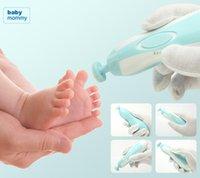 Ребенок Автоматическая электрическая Nail Trimmer младенца Маникюрный набор с LED переднего света Младенец Уход за ногтями Ножницы электрические маникюрные Kit GGA3501-2