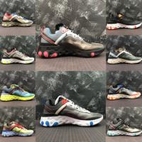 2020 React chaud Element 87 chaussures de course Anthracite Light os bleu triple styliste extérieur mode noir femmes pour hommes blancs américains 5,5-11