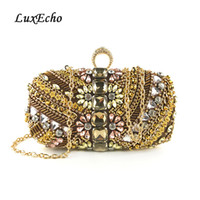 LuxEcho Evening Bags Women' s Beading Day Clutches Fashi...