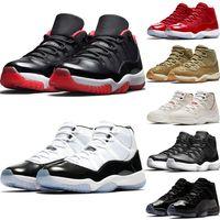 عالية 11s كونكورد 45 × 11 كاب وثوب أحذية كرة السلة ولدي العجلات الأسود البلاتين تينت زيتون لوكس الرجال النساء المدربين