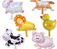 50PCS 임의의 미니 베어 원숭이 Buttfly 양 돼지 공주 동물 호일 풍선 비정상적으로 공기 풍선 생일 파티는 어린이 장난감 공급