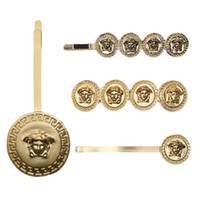 New Beauty Portrait Golden Coin Hairpin Fashion Designer All...