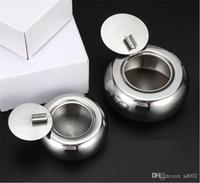 Cigarettes de forme de tambour support de voiture avec couvercle en acier inoxydable à antipoussière Cendrier Cendriers populaire Gadgets New Arrivée 18 8xm2 E1