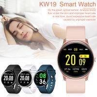 KW19 Smart Watch Frauen Männer Sport Smart-Armband Blutdruck Blutherzfrequenz-Monitor Schlaf Nachricht Erinnerung für Android IOS