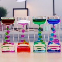 Double Color Floating Liquid Oil Acrylic Hourglass Liquid Fl...