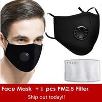 Riutilizzati Maschere Anti-Polvere di fumo all'aperto riutilizzabili registrabili Protezione 1 PM2.5 Filtro Mouth Mask al coperto per le donne Man