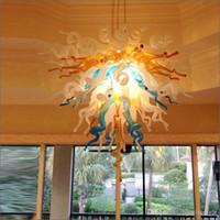 Mini Tamanho Art Hand Blown vidro Murano luzes de teto Designer Tradicional Tipo Decoração Mão vidro fundido candelabro de cristal