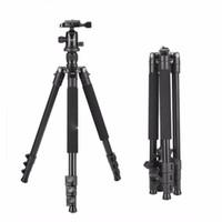 Venda quente por atacado Q555 63 polegadas Profissional Portable Viagem Tripé de Câmera de Alumínio com Cabeça de Bola de 360 graus para câmeras digitais SLR DSLR