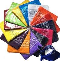 Paisley Bandana Headwear Faixa de Cabelo lenço da garganta de pulso Enrole Banda Praça lenço Magia Multifunctional Bandana Outdoor lenço principal 55 * 55 centímetros KKA7759