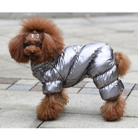2020 Kış Sıcak Pet Köpek Kedi için Yastıklı Polar Kostümleri Lüks Sıcak Giyim Yelek Yavru Köpek Kalınlaşmak Hoodie Ceket Ceket Köpek Giysileri Bulldog Teddy