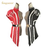SONGYUEXIA New Fashion Womens Patchwork Set Stage Singer DS ...