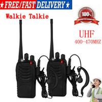 Walkie-talkie UHF 400-470MHz Portable 2-Way Radio USB Charger + Auricolare US