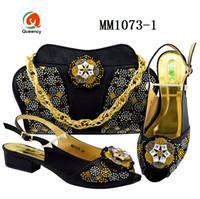 Dgrain Hochwertige Afrikanische Mode Italienische Kristall Abend Party Taschen Und Schuhe Set
