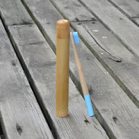 Nueva bambú cepillo de dientes cepillo de dientes del arco iris Conjunto de bambú 1pc embalaje del tubo Eco Cepillo de dientes de viaje caso de bambú natural favorable al cepillar los dientes