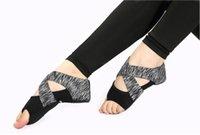Chaud Sale-Bandage Yoga Yoga Chaussettes Fashion Drapeau Prévention Fitness professionnel Cinq doigts Chaussures de yoga adultes adultes adultes