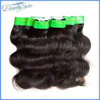 Großhandel indische Menschenhaarbündel 20bundles viel rohe indische Haarverlängerungen spinnt natürliche Farbe 8inches ~ 26inches 1 kg Körperwelle
