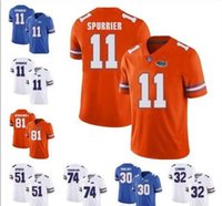 Personnalisé Florida Gators 81 Aaron Hernandez 14 Emory Jones 11 Steve Spurrier 6 Jeff Driskel Tim Tebow Francs