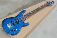 Fabrika Özel 5 Dizeleri Mavi Elektrik Bas Gitar ile Bulut Desenleri Kaplama, Krom Donanım, Teklif Özelleştirilmiş