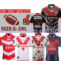 19 20 St George Illawarra Chemises XBLADES DRAGONS MAILLOT DE RUGBY 2019 2020 Maillots St George Jersey taille s-3XL