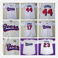 """Milwaukee Beers Moive Jersey # 17 # 44 Doug Remer Joe Cooper BASEketball Film # 23 Kenny """"Quietschen"""" SCOLARI Beers Baseball Jersey"""