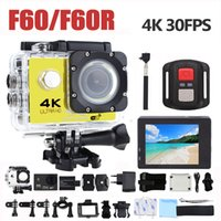 F60 F60R 4K Wifi Cámara de acción 16MP 170D Gran Angular Sport DV 30M Go Impermeable Pro Extreme Sports Video Bike Casco Cam Mini DVR