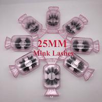 NEW 5D 밍크 속눈썹 25mm 3D 밍크 속눈썹 가짜 속눈썹 큰 극적인 Volumn 밍크 속눈썹 메이크업 아이 래쉬