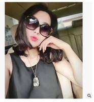 Toptan-Moda Marka Tasarımcısı Güneş Kanal Lüks Boy Çerçeve Güneş Gözlükleri Kadınlar 858 kadınlar için sunglass paketi ile