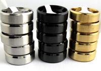 50 adet Siyah Altın Gümüş Eğimli Kenarlar Comfort-Fit 8mm Bant Paslanmaz Çelik Alyans Erkek Parti Yüzük Toptan Moda Takı