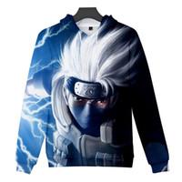 Fashion-Naruto 3D Printed Menshoodies-Herbst lose Pullover Herren-Sweatshirts Art und Weise männlich Bekleidung
