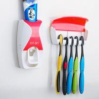 Acessórios de casa de banho Conjunto de dente titular escova automática dentífrico Dispenser dentador escova de parede montagem em parede de montagem casa de banho ferramentas vt334
