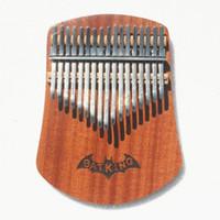 17 Tuşları Kalimba Başparmak Piyano Katı Sapelli Vücut Ile Öğrenme Kitabı, Ayar Çekiç, Bez Çanta, Etiket, Iki Dilli Öğretim