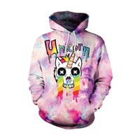 Unicorn Hoodies Colorful Kawaii Spring Autumn Hiphop Plus Si...