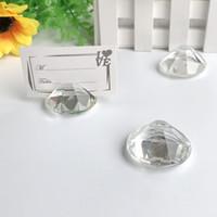 10 sztuk Serce Diamentowe Kryształ Place Uchwyt Karty Wedding Stół Posiadacze Party Decoration Suplies