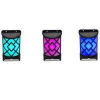 LED 화염 태양 광 조명 벽 램프 야외 풍경 경로 블레이즈 밤 빛 에너지 정원 보안 전구 태양 불꽃 램프 벽 램프